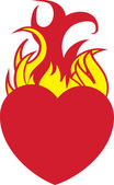 Heart On Fire — Stockvektor