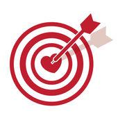 Bullseye srdce — Stock vektor