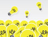 Light Bulbs Pile — Stock Vector