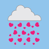 Cloud Hearts — Stock Vector