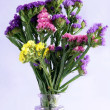 Stock Photo: Posy of multicolor statice flowers