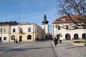 Antik bina ve kilise krosno — Stok fotoğraf