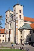 Kilise benedictines cloister krakow yakınındaki tyniec içinde — Stok fotoğraf