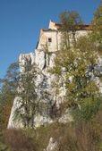 Cloister on high limestone rocks — Stock Photo
