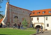 Church yard of Benedictines Monaster in Tyniec Krakow — Stock Photo