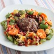 Stock Photo: Grinded beef meat collop with vegetable for dinner or lunch