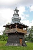 Wooden orthodox church in Berest near Krynica — Stock Photo