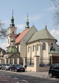 Church of Saint Florian in center of Krakow — Stockfoto