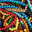 图库照片: Multicolor necklaces as jewerly for women