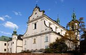 Church and monastery of Paulinites convent in Krakow — Stockfoto
