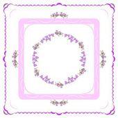 Colchique fleurs de lila dans l'arrangement d'arrière-plan — Photo