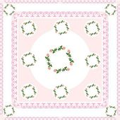Arrangement of pink roses as frame or background — Stockfoto