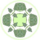 Regeling van groene open-werk als patroon voor tafellaken — Stockfoto