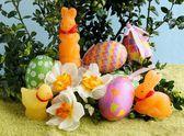 Tradiční velikonoční dekorace — Stock fotografie