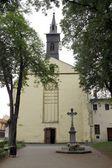 Old catholic church in Bardejov — Stock Photo