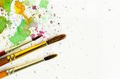 кисть и цвет воды абстрактное искусство — Стоковое фото