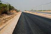 Asphalt road rebuilding for connection — Stock Photo