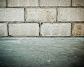 Block of concrete wall background — Foto de Stock