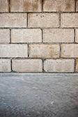 Bloco do fundo da parede de concreto — Fotografia Stock