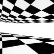 Stock Photo: Checker back and white pattern
