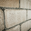 Closeup of concrete block wall — Stock Photo