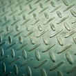 Closeup of metal diamond plate, texture background — Stock Photo