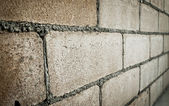 Closeup of concrete block wall — Foto de Stock