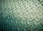 Closeup of metal diamond plate, texture background — Stock Photo