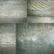 Texture set of concrete wall grunge background — Stock Photo