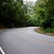 Curve of road, location of travel in Thailand — Stock Photo