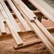 Detail of wood floor architecture building — Stock Photo
