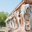 Elephant sculpture for decorate — Stock Photo