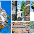 Group Temple Landmark From Thailand. — Stock Photo