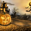 Halloween concept of digital paint  — 图库照片