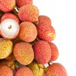 Stock Photo: Macro of lychees, fruit detail