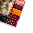 Palette of water color isolate on white — Stock Photo