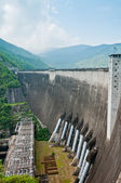 Hydroelectric power production of Bhumibol dam building, Thaila — Stock Photo
