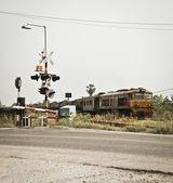 Locomotive pushing the oil cargo train — Stock Photo