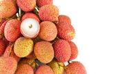 Macro of lychees, fruit detail — Stock Photo