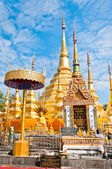 Pagoda golden color in temple of Thailand — Stock Photo