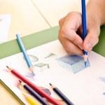 Sketch of pencil color — Stock Photo