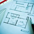 Work of interior design concept and drawing tools — Стоковая фотография