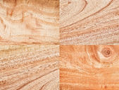 Collection of wood background material — Stock Photo