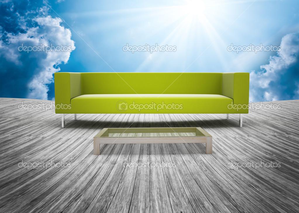 Ensemble de sofa et de planche de bois plancher ext rieur for Planche de bois exterieur