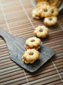 Biscuit filling of pineapple jam — Stock Photo