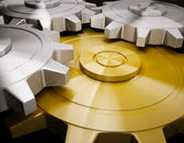Golden gear rendu 3d créer — Photo