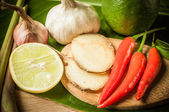 Rostlinné potravy pro tom yum prvek — Stock fotografie