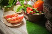 Plantaardige van voedsel voor tom yum element — Stockfoto