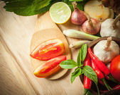 Vegetable of food for tom yum element — Stock Photo