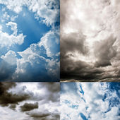 Collection of cloudy Sky — Stock Photo